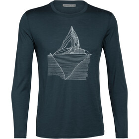 Icebreaker Tech Lite Oneberg LS Crew Top Men nightfall